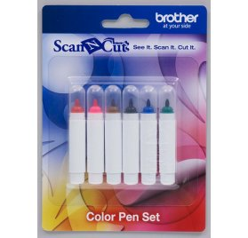 Kit 6 stylos couleur encre permanente ScanNCut - Brother