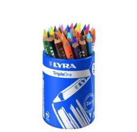 Pot de 36 crayons de couleur - Lyra - Triple one