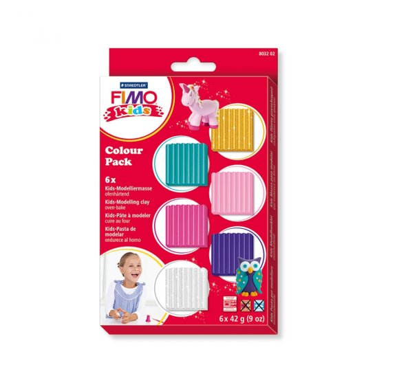 Kit de 6 pains de 'fimo Kids' 42g - Fille