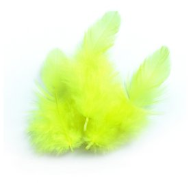 Sachet 3g plumes de coq 'PW International' Jaune 100 mm