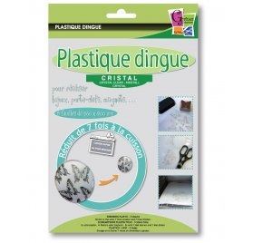 Plastique Dingue 'PW International' Cristal 26x20cm Qté 5