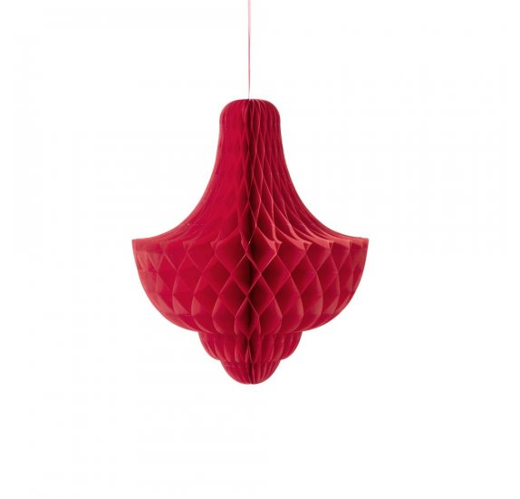 Suspension en papier 'Talking Tables' Giant Bauble Red