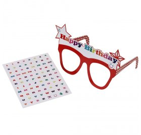 Lunettes en carton 'Talking Tables' Happy Birthday