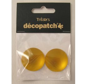 Lot de 2 Cabochons 'Decopatch' Orange 3 cm