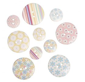 Boutons 'Rayher - Poetry Life' Qté 10