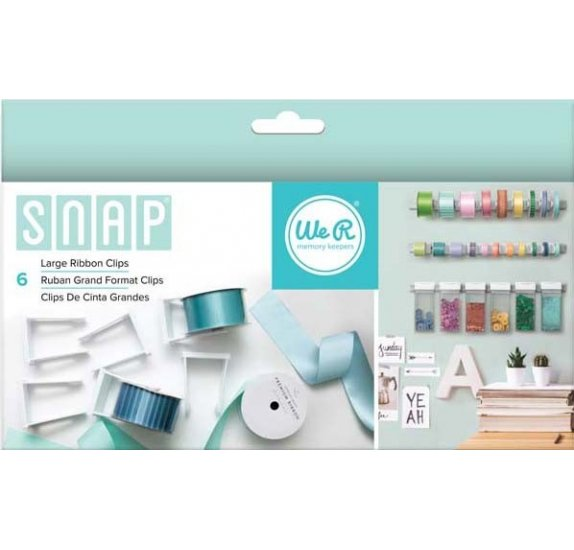 Grandes pinces pour ruban 'We R Memory Keepers - Snap Storage' Qté 6