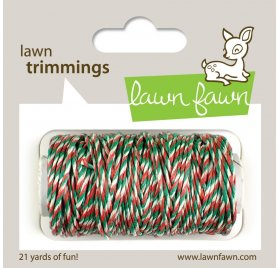 Ficelle 'Lawn Fawn' Vert/Blanc/Rouge 19 m