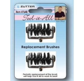 Brosses de remplacement pour Tool-it-All 'Zutter Innovative' Qté 2