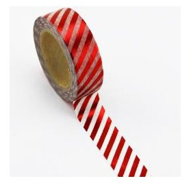 Scotch décoratif 'Jolee's - Love My Tape' Red Diagonal Stripe 10m