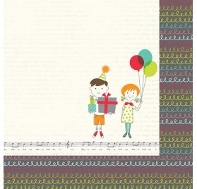 Papier double 30x30 'Simple Stories - Let's Party' It's your day