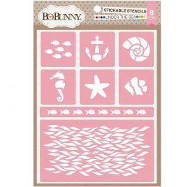 Pochoirs adhésifs 'BoBunny - Stickable Stencils' Under The Sea Qté 8