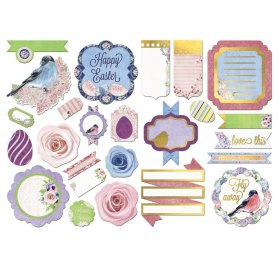 Assortiment Die-cuts 'Bobunny - Secret Garden' Noteworthy Qté 25