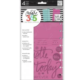 Tableaux de bord transparents 'Me & My Big Ideas - The Happy Planner' Qté 3
