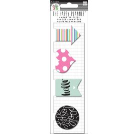 Clips magnétiques 'Me & My Big Ideas - The Happy Planner' Hello Stripes Qté 4
