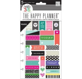 Autocollants Washi sur page pré-perforée 'Me & My Big Ideas - The Happy Planner' Bold