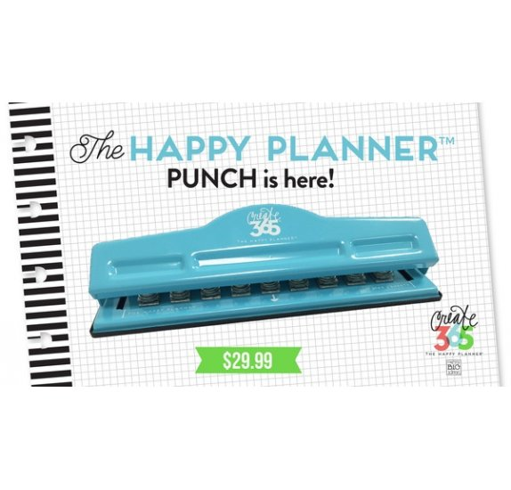 Perforatrice 'Me & My Big Ideas - The Happy Planner' Reliure 9 trous