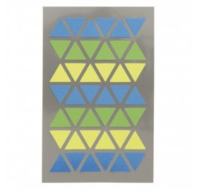 Autocollants 'Rico Design - Paper Poetry' Triangles bleu/vert