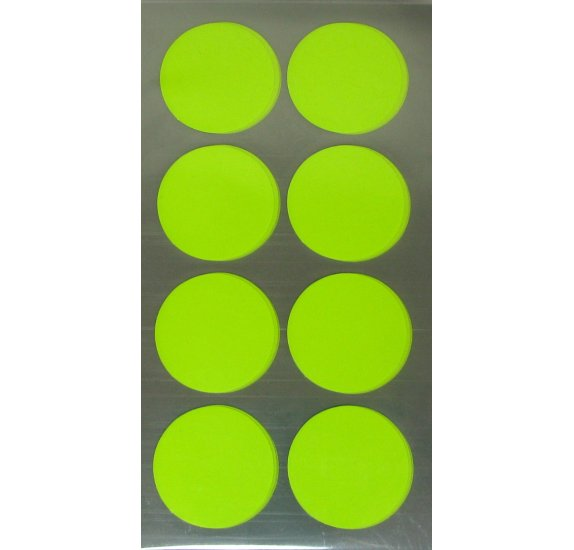 Autocollants 'Rico Design - Paper Poetry' Points jaunes fluo 25mm