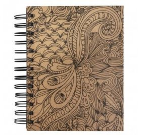 Carnet spiralé à colorier 'Rayher - Tangle' Memory Journal Jungle Kraft 16x18 cm 110g