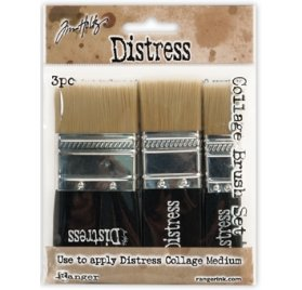 Set de Pinceaux Brosse 'Tim Holtz - Distress Collage' Qté 3