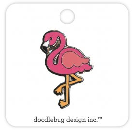 Pin's 'Doodlebug - Fun in the Sun' Flamant rose