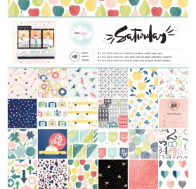 Assortiment 30x30 'American Crafts - Saturday' Qté 48