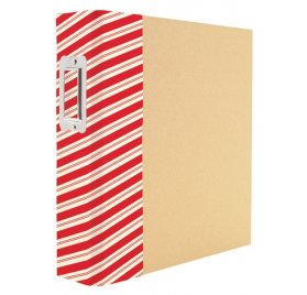 Album 15x20 'Simple Stories - Snap Binder' Striped Holiday
