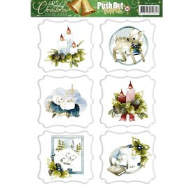 Découpage 3D 'Precious Marieke - The Spirit of Christmas' Push Out Topper