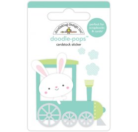 Autocollants 3D 'Doodlebug - Easter Express' Mr. Bunny