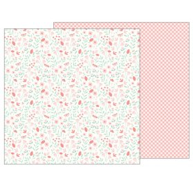 Papier double 30x30 'Pebbles - Lullaby' Baby Girl Blossoms