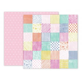 Papier double 30x30 'Pink Paislee - Oh My Heart' 24