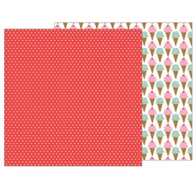 Papier double 30x30 'Pebbles - My Funny Valentine' Candy Dots