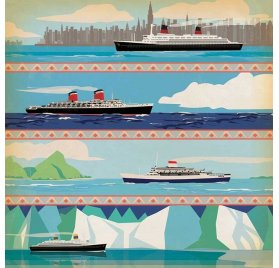Papier double 30x30 'Carta Bella - Let's Cruise' 3X4 Journaling Cards