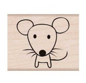 Tampon bois 'Hero Arts' Mouse