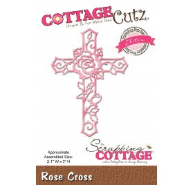 Die/Matrice de découpe 'The Scrapping Cottage - Cottage Cutz' Rose Cross
