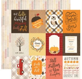 Papier double 30x30 'Carta Bella - Hello Fall' 3X4 Journaling Cards