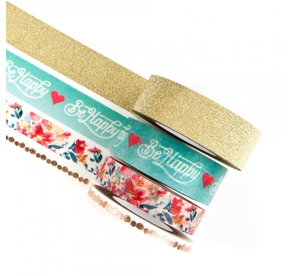 Lot de 4 masking tapes 'Prima - My Prima Planner' Be Hapy