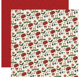 Papier double 30x30 'Echo Park Paper - Twas The Night Before Christmas' Candy Christmas