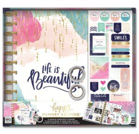 Coffret Organiseur 'Me & My Big Ideas - Happy Memory Keeping' Life is Beautiful Non daté 12 mois