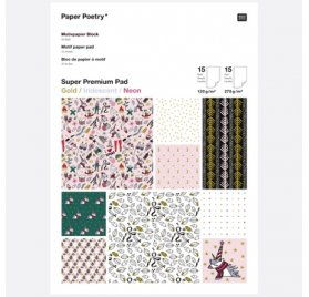 Assortiment A4 'Rico Design - Paper Poetry' Classical Magical Christmas Qté 30