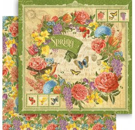 Papier double 30x30 'Graphic 45 - Seasons Collection' Spring