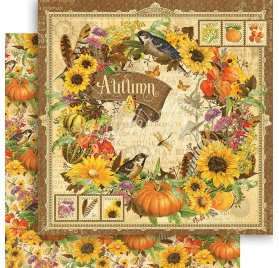 Papier double 30x30 'Graphic 45 - Seasons Collection' Autumn