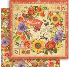 Papier double 30x30 'Graphic 45 - Seasons Collection' Summer