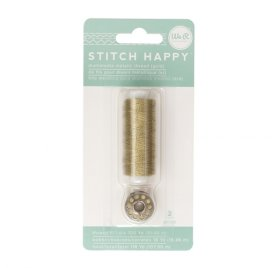 Fil pour couture 'We R Memory Keepers - Stitch Happy' Or