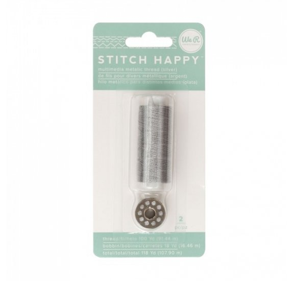 Fil pour couture 'We R Memory Keepers - Stitch Happy' Argent