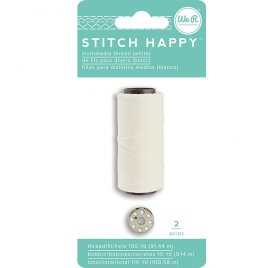 Fil pour couture 'We R Memory Keepers - Stitch Happy' Blanc