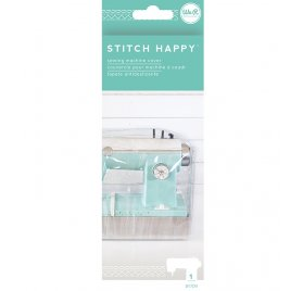 Housse de protection pour machine à coudre 'We R Memory Keeper - Stitch Happy' Transparent