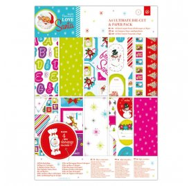 Assortiment A4 'Docrafts - Love Santa' Qté 48