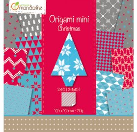 Mini Kit Origami 'Avenue Mandarine' Christmas 7.5x7.5 cm Qté 240
