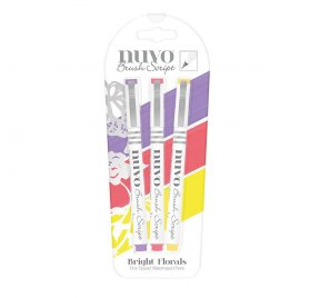 Lot de 3 feutres 'Nuvo - Brush Script' Bright Florals